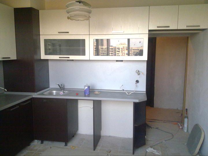 Кухненско обзавеждане - Венге и бял фладер