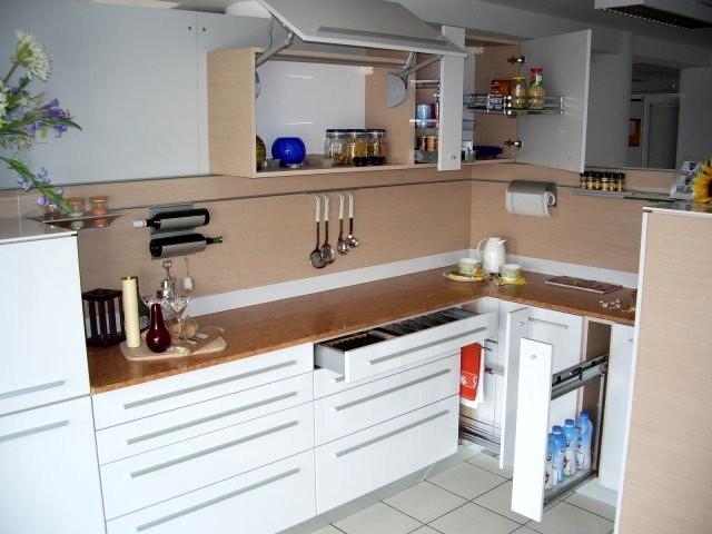 Кухненско обзавеждане - Дъб русти и бял гланц