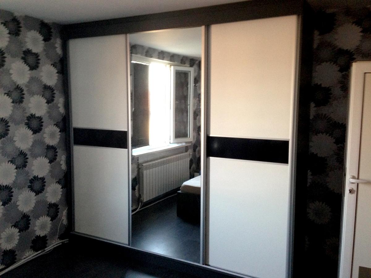 Спално обзавеждане - графитно сиво с бял и черен гланц