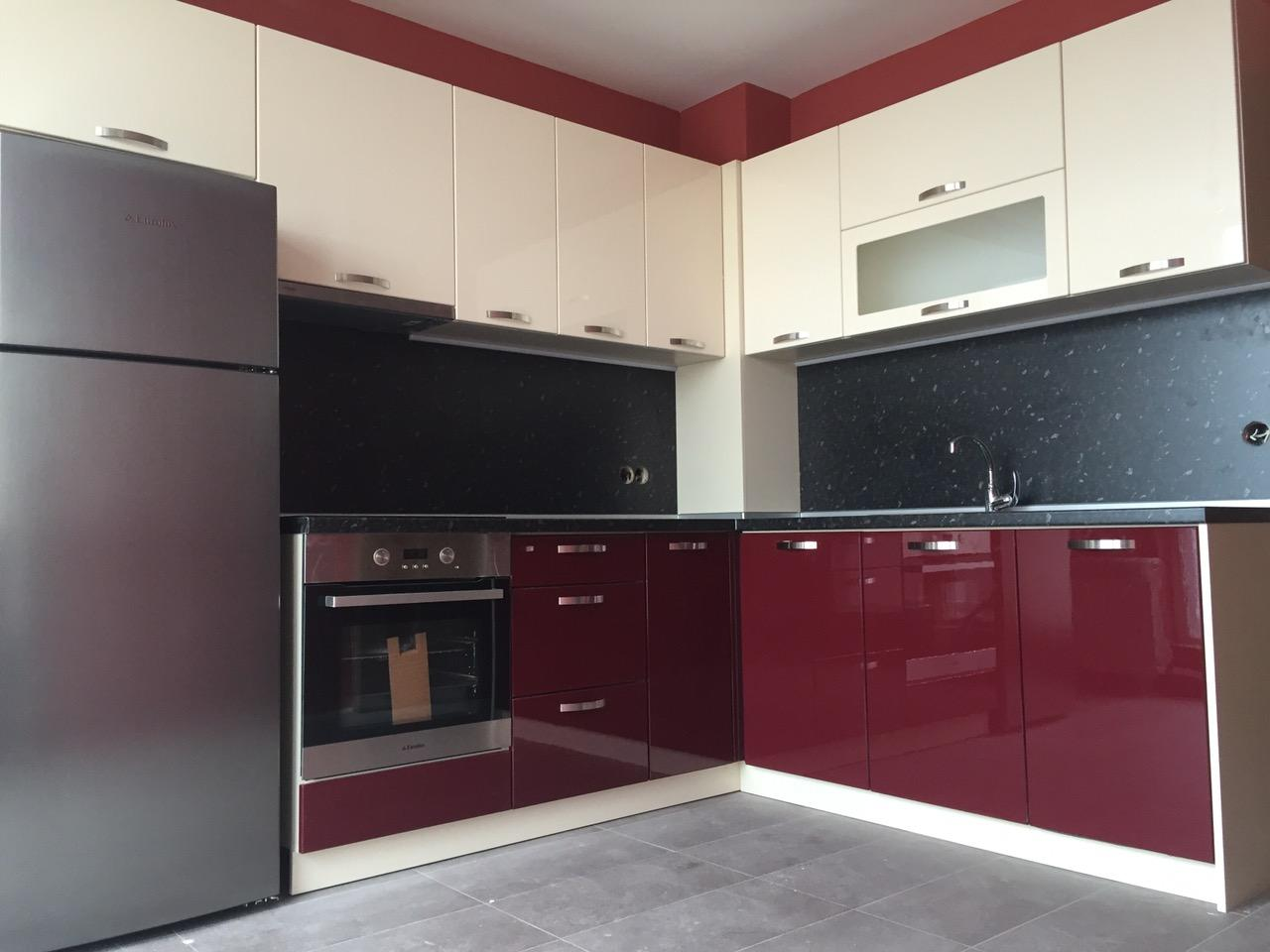 Кухненско обзавеждане - Памук, бордо и крем