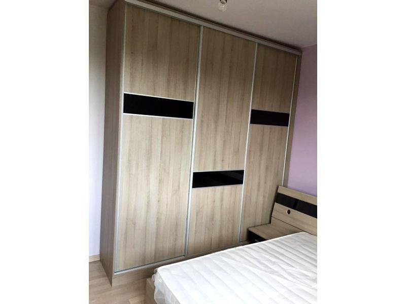 Спално обзавеждане - Дъб бардолино и черен гланц